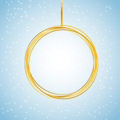 gold new year christmas ball banner