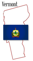 Vermont State Map and Flag