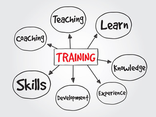 TRAINING, business vector concept for presentations and reports