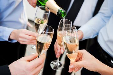 Celebrating great success.
