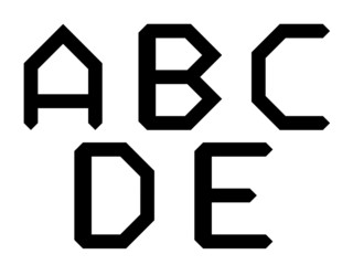 ABCDE geometric alphabet letters