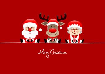 Santa, Rudolph & Mrs. Santa Red