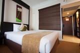 Fototapety luxury modern bedroom. Modern style in the hotel.
