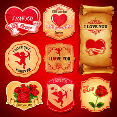 LOVE STICKERS VINTAGE