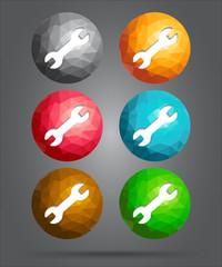 set of icons repair tool