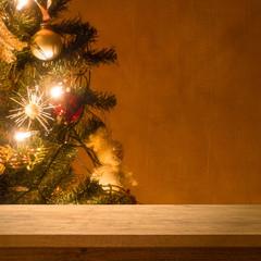 Table on Christmas Tree
