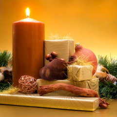 Candle with gifts