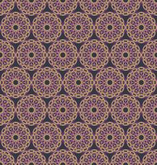 Spirographs pattern. Vector seamless texture