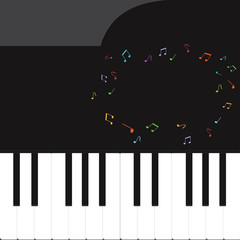 Vector of piano key .music