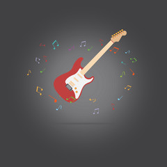 Vector of music Guitar background