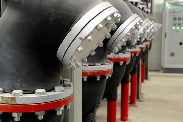 Impianto per distribuzione energia - piping filtri e valvole