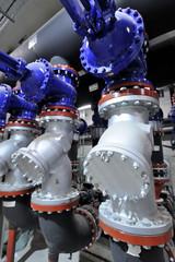Impianto con filtri e valvole per condizionamento
