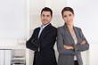 Frauenanteil in börsennotierten Unternehmen: Mann und Frau