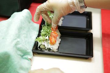 Sushi zubereitung