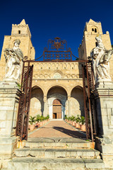 main entrance to the Cathedral of Cefalu