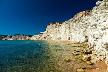 remote beach of Scala dei Turchi