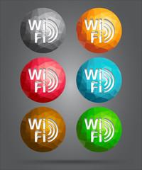 set of icons wifi