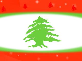 Lebanese flag design background