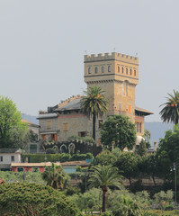 Ancient house with tower. Santa-Margherita-Ligure, Genoa, Italy