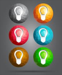 set of icons light bulb