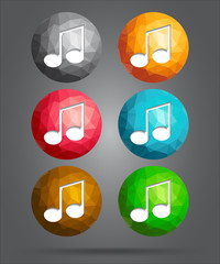 set of icons music note