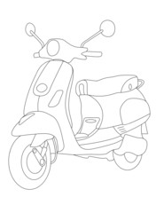 coloring pages for kids moto
