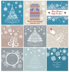 Christmas retro greeting cards