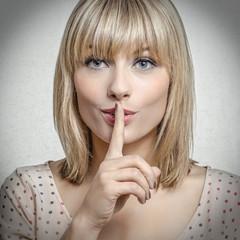 blonde woman has a secret