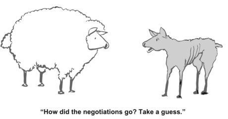 """How did the negotiations go?  Take a guess."""