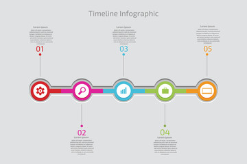 Timeline Infographic. Vector template.