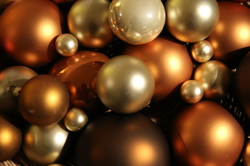 christmas balls decoration close-up