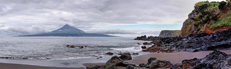 Beach near Pedro Miguel at Faial Island, Azores