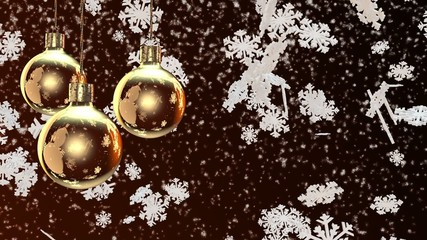 Christmas decorations on a brown background