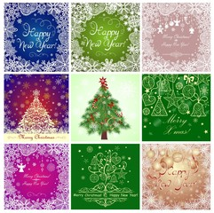 Greeting cards for New Years holidays