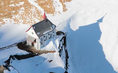 Church in Alps. Pilatus, Lucerne, Switzerland
