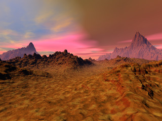 Colored Clouds on the Desert-113d