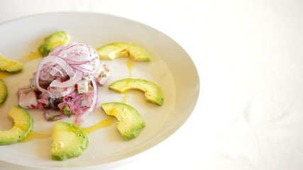 Plate Ceviche with Avocado