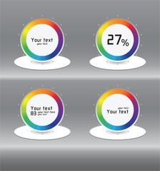 Color infographics on the shelf