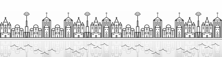 seamless city banner
