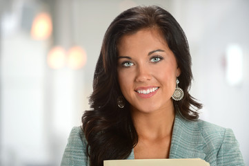 Young Businesswoman Smiling