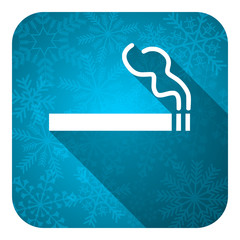 cigarette flat icon, christmas button, nicotine sign