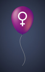 Vector balloon icon with a female sign