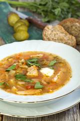 Rassolnik - traditional Russian soup.