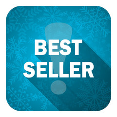 best seller flat icon, christmas button