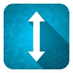 arrow flat icon, christmas button