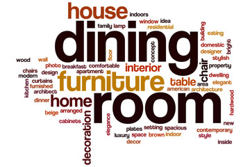 Dining room word cloud