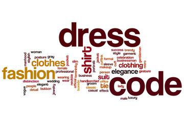 Dress code word cloud