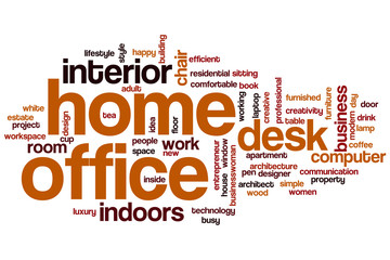Home office word cloud