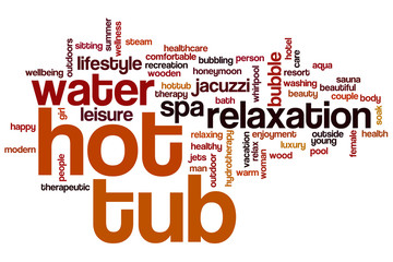 Hot tub word cloud