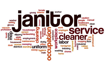 Janitor word cloud